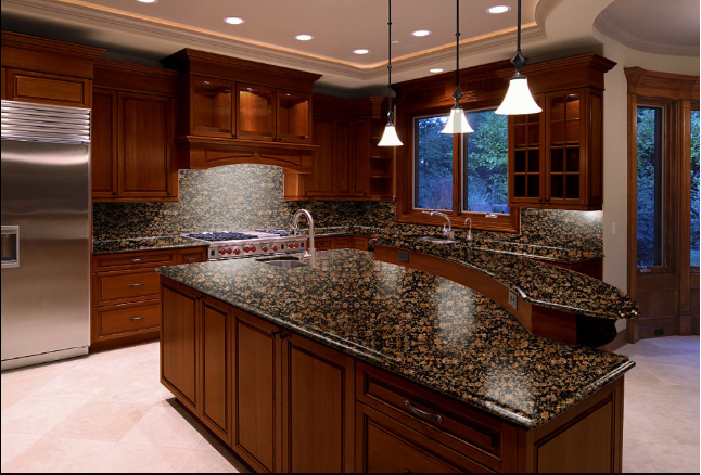 Baltic Brown backsplash