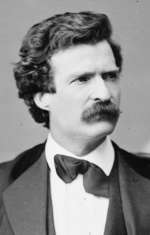 Mark Twain, Brady Handy photo portrait, Feb 7, 1871, cropped resized 600