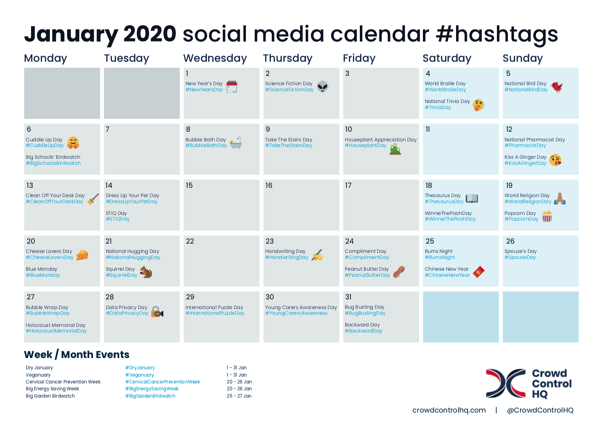 January 2020 social media calendar-1