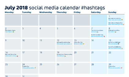 July 2018 social media calendar #hashtags-245872-edited