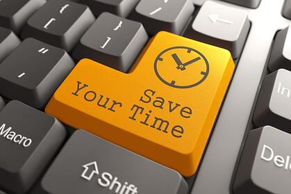 Orange Save Your Time Button on Computer Keyboard. Business Concept.-1