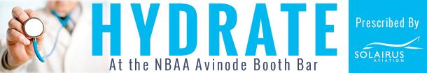 Hydrate at the NBAA Avinode Booth Bar