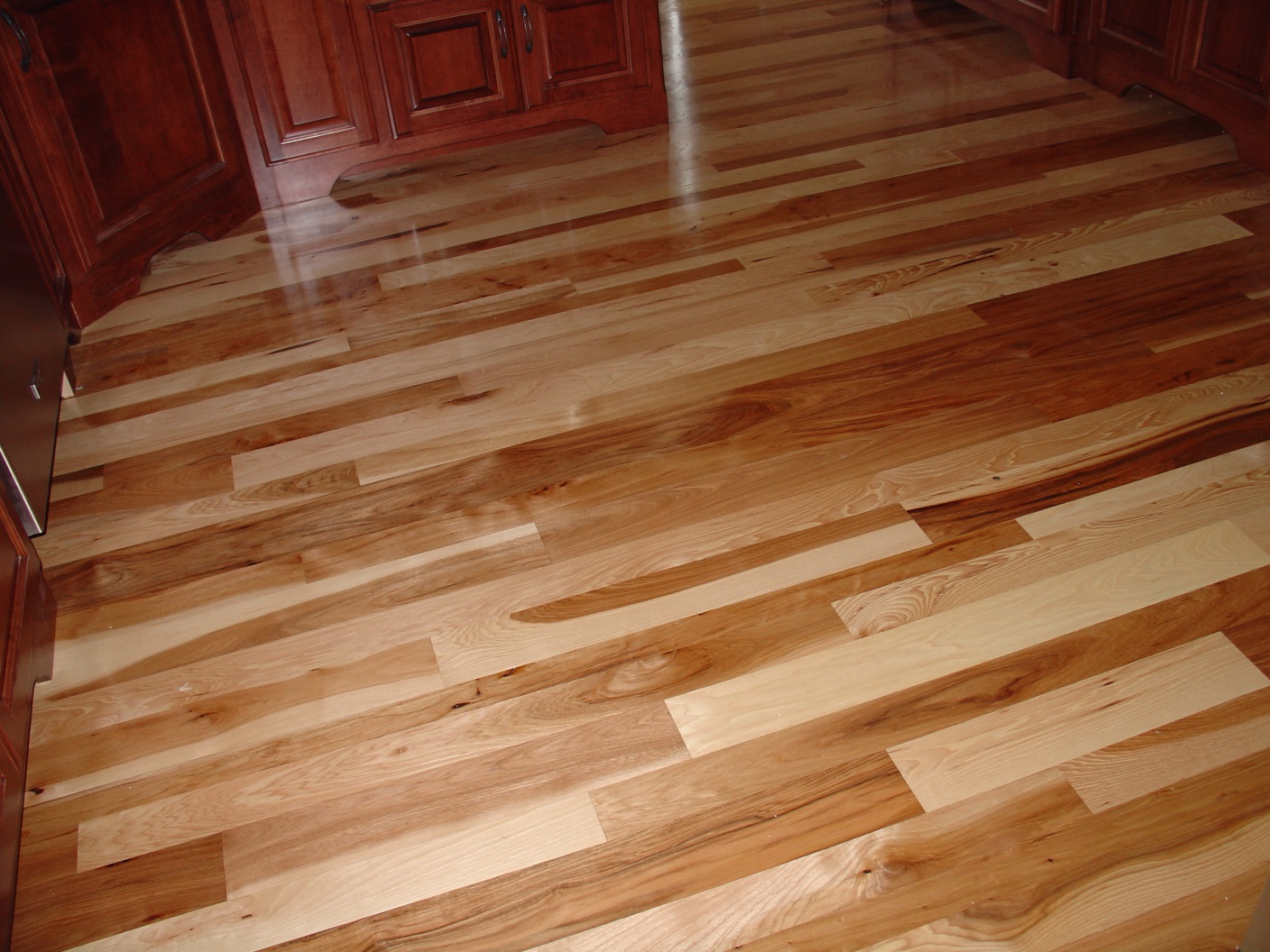 Using color to add personality to your hardwood flooring for Natural floors