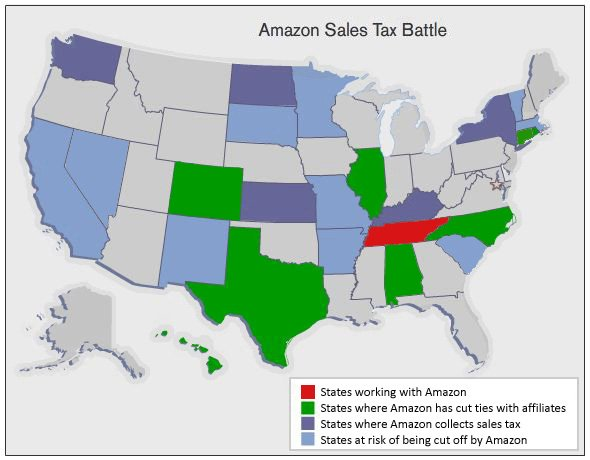 Amazon Removes Itself From Connecticut And Arkansas In Order To - Us sales tax map