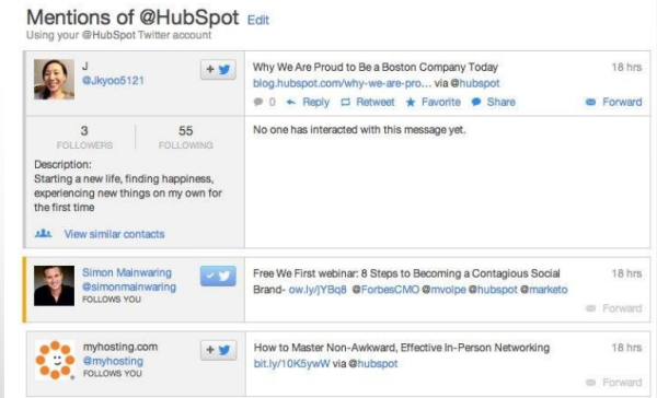 social media monitoring, hubspot social inbox