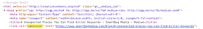 Best Practices for Adding Medium to Your Blog Strategy_Canonical Tag