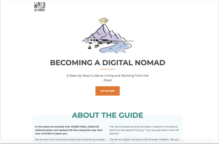 guide landing page