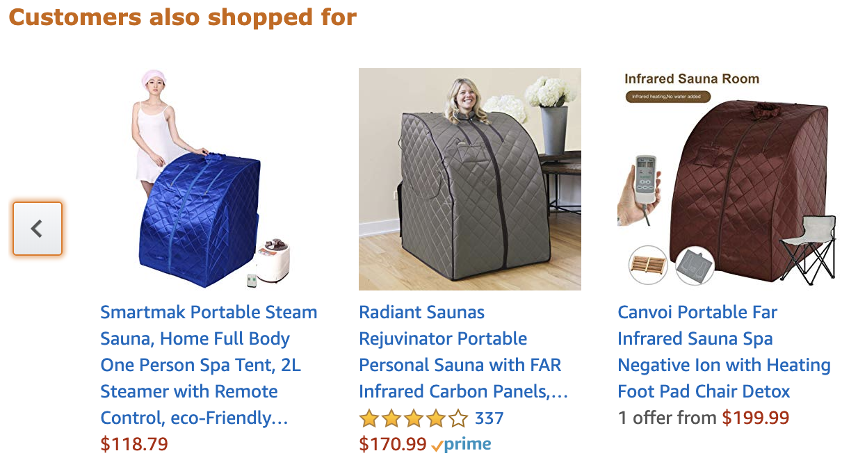 amazon suggested products