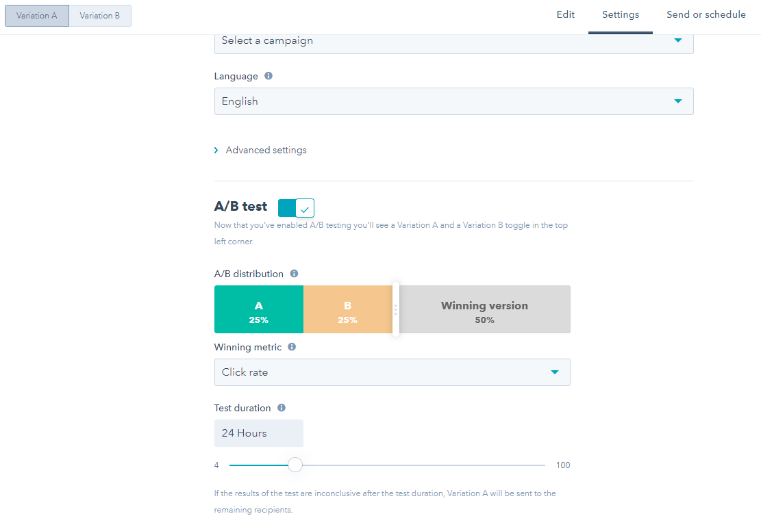 A/B Testing in HubSpot Emails