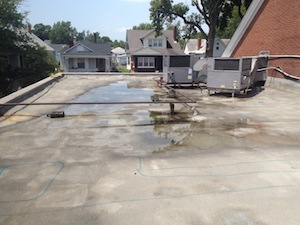 New Albany Indiana Flat Roof Repair Exterior Pro Roofing
