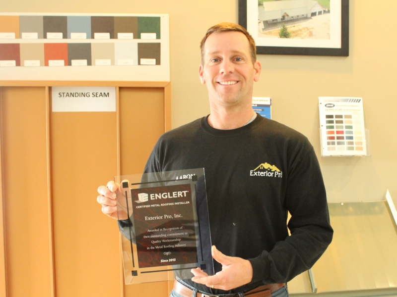 Exterior Pro Inc Earns Metal Roofing Certification From