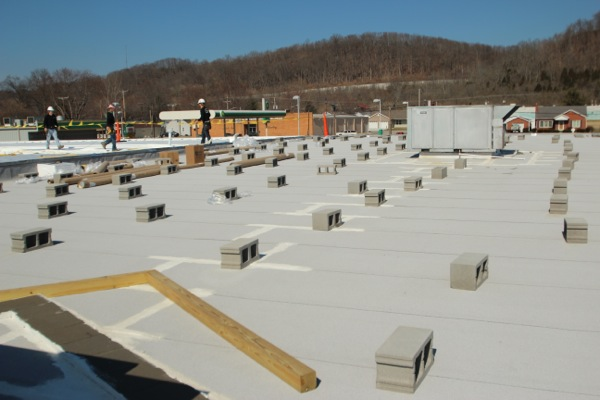Shopping Center In Vevay Indiana Receives A New Roof And Look