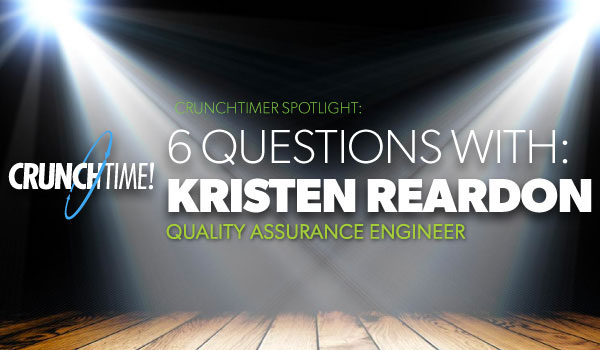 Blog feature image - Crunchtimer spotlight Kristen Reardon