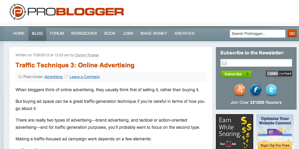 Pro Blogger Inbound Marketing Blog