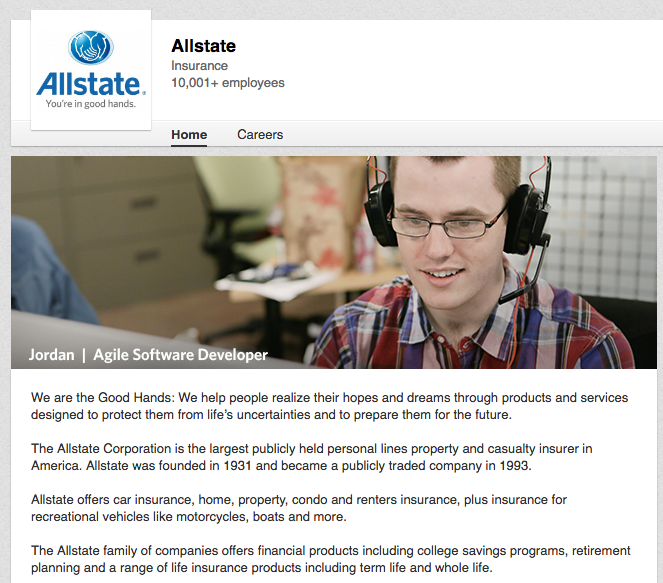 Allstate Check: 20 Examples Of Powerful LinkedIn Company Pages