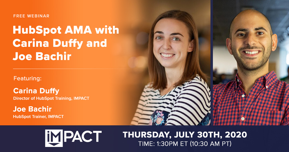 HubSpot AMA with Joe and Carina - Webinar Hero-2