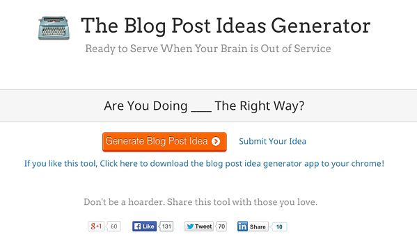 7 life saving tools to help you generate more blog titles for Portent sentence