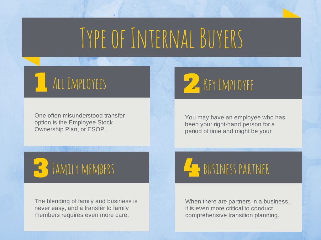 the types of buyers for internal business transitions