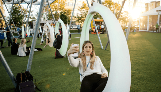 Selfie on the Lawn at INBOUND