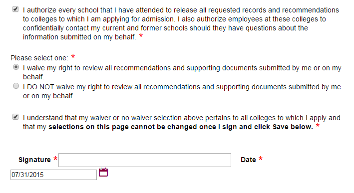 Should You Waive Your Right To See Recommendation Letters