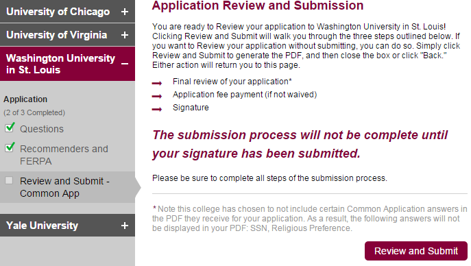 common app submit recommendation letter