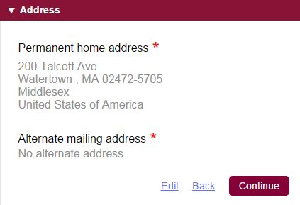 address common app