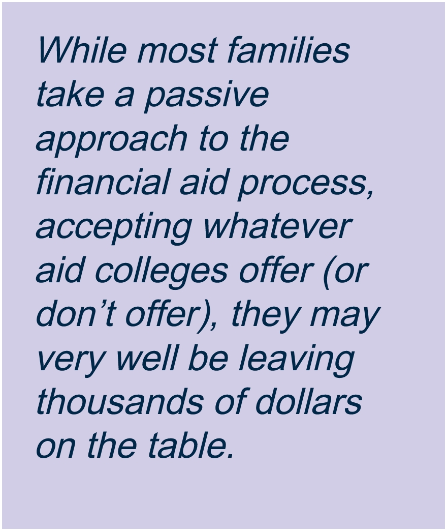 Financial Aid Negotiation, Financial Aid Appeals
