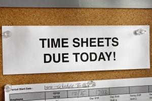Time Sheets Due Today!