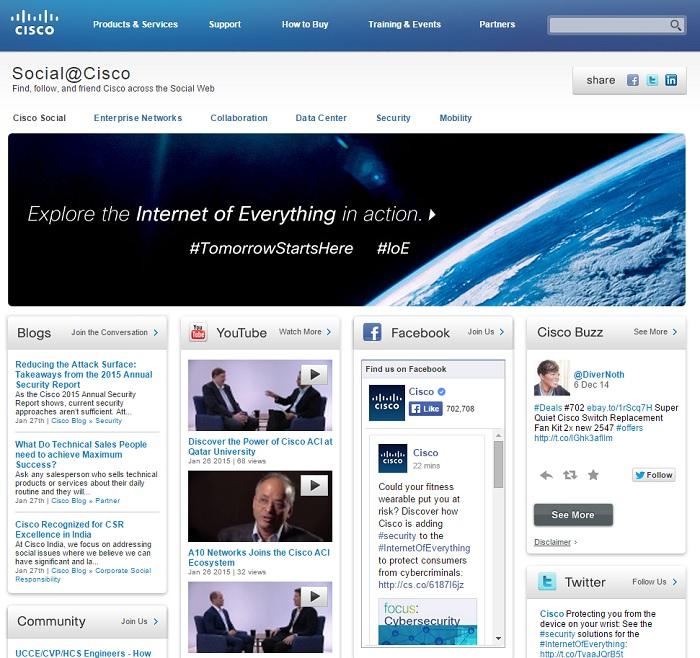 Cisco Social Media Home Page