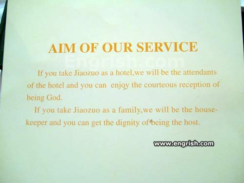 aim of our service