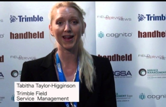 Field Service News live at Service Management Expo 2014 - Tabitha Taylor Higginson, Trimble