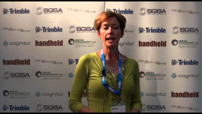 Field Service News live at Service Management Expo 2014 – Caroline Pennington, Trimble FIeld Service