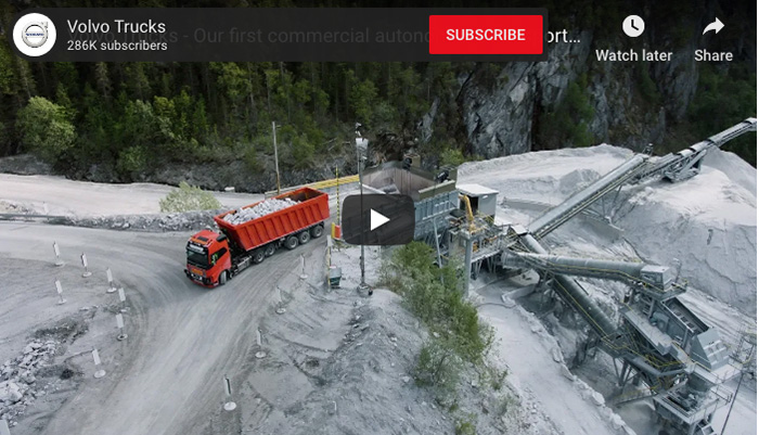 Volvo Trucks announce first commercial autonomous transport solution