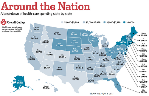 State Spending on Health Care Costs, Obamacare