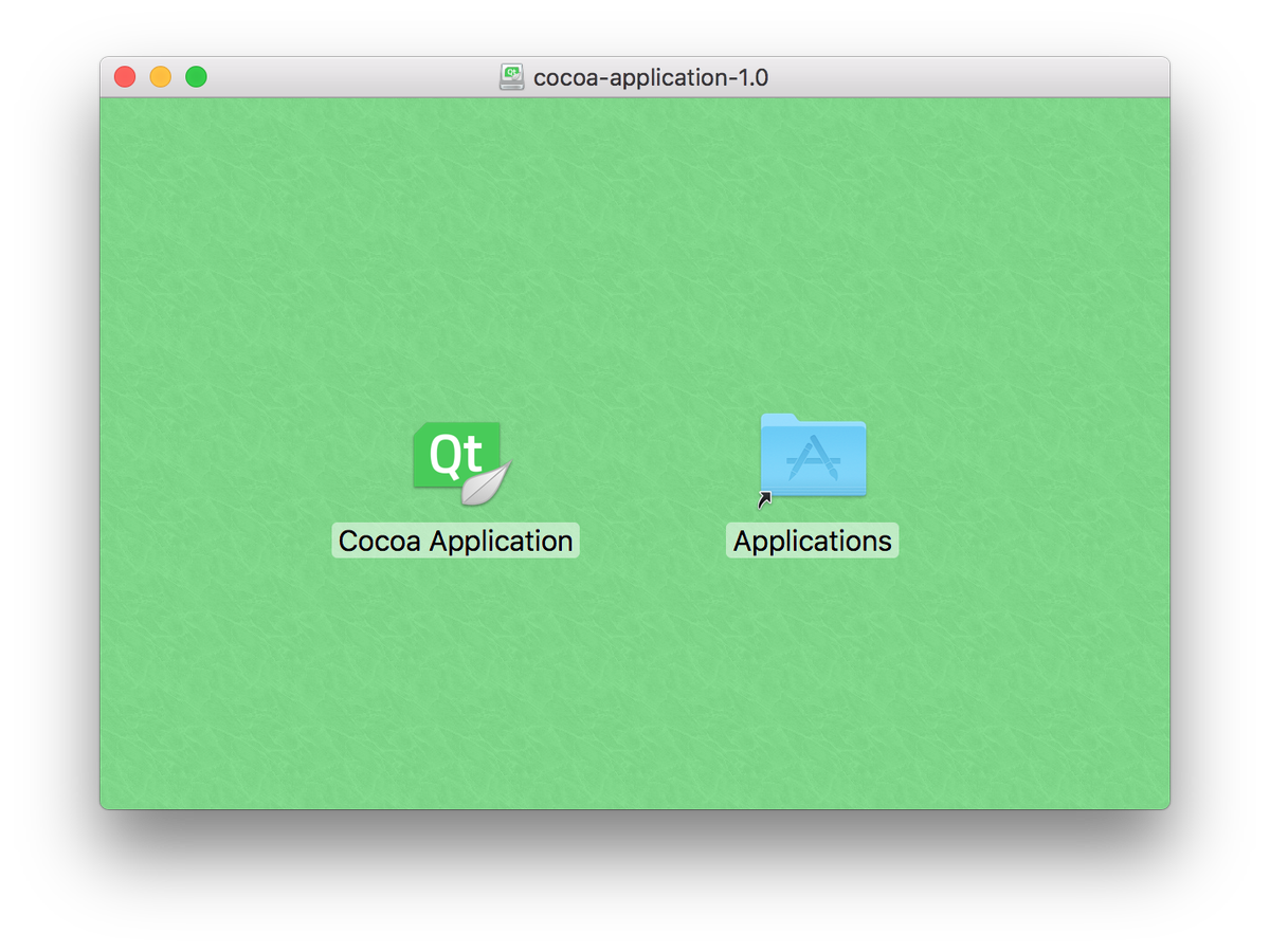 macOS disk image built with Qbs