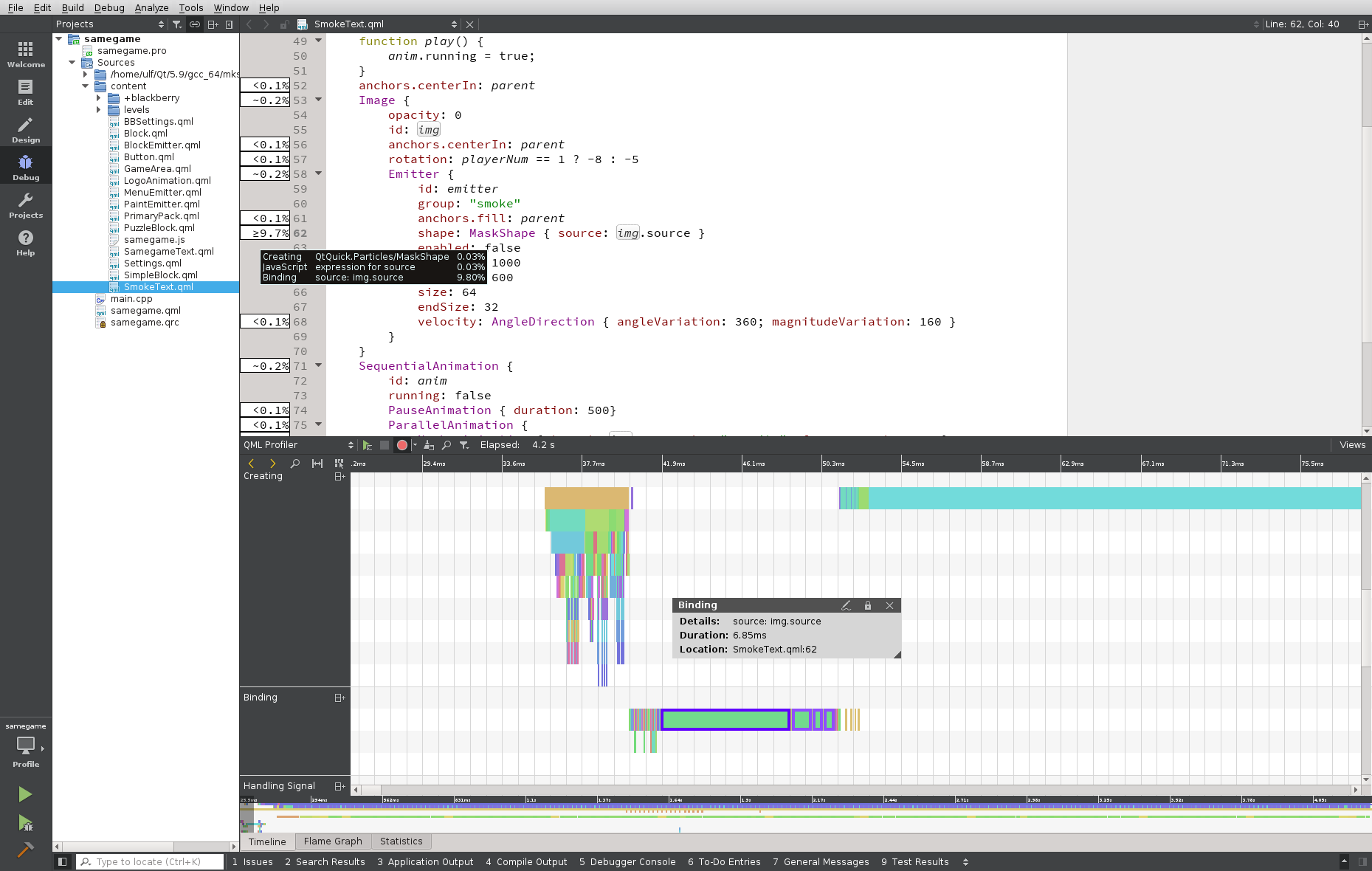 QML Profiler with in-code performance information