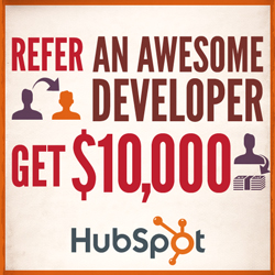 hubspot refer developer $10k