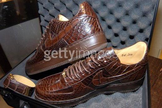 Alligator skin sneakers