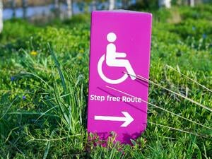 Sign for handicapped people for better accessibility