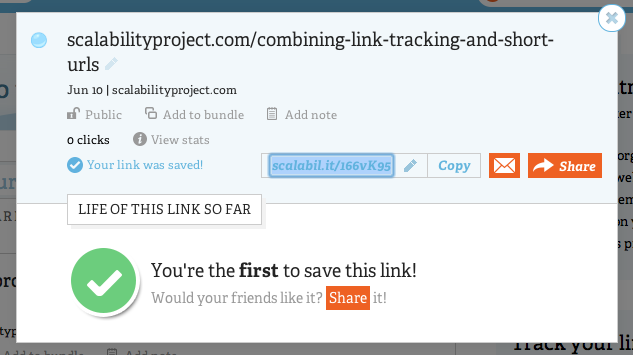link tracking using short links