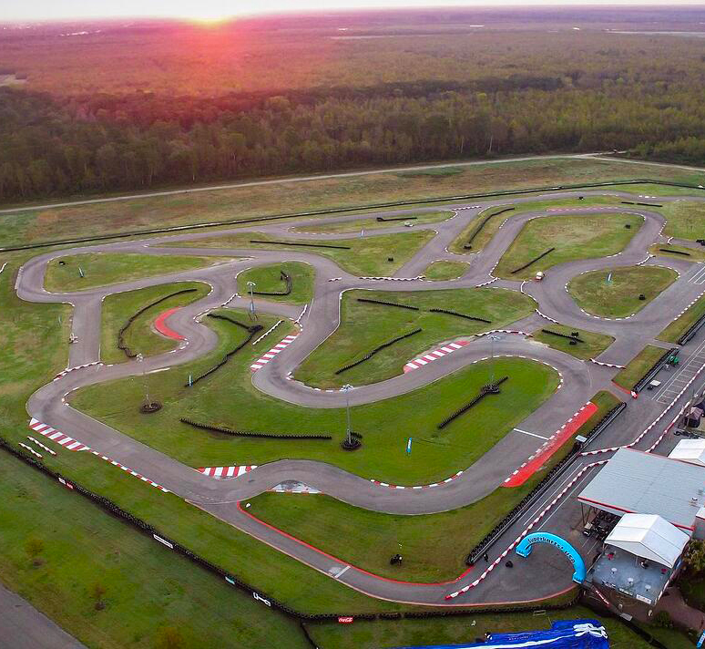 Aerial View of the NOLA Motorsports Karting Facility