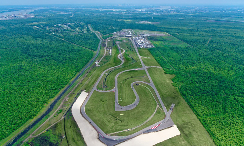 Aerial view of the NOLA Motorsports Facility