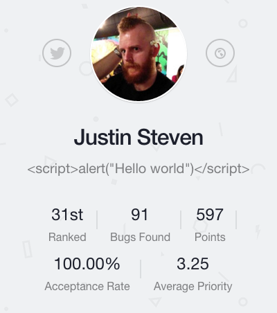 Justin Steven on Bugcrowd