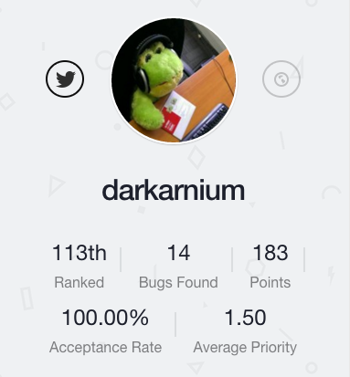 Darkarnium on Bugcrowd
