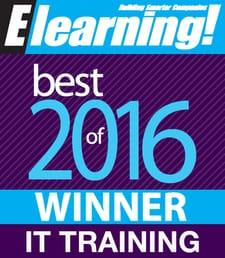 2016 Best of Elearning! IT Training Winner
