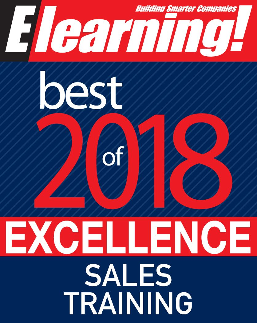 2018 Best of Elearning! Excellence in Sales Training