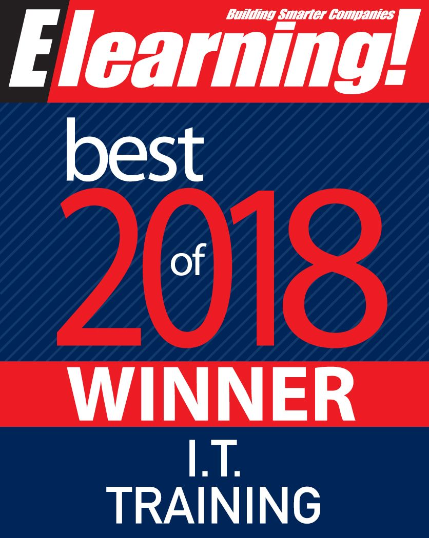 2018 Best of Elearning! Winner IT Training