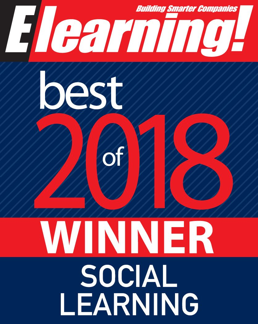 2018 Best of Elearning! Winner Social Learning