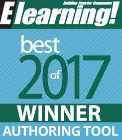 2017 Best of Elearning! Authoring Tool Winner