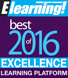 2016 Best of Elearning! Excellence in Learning Platform